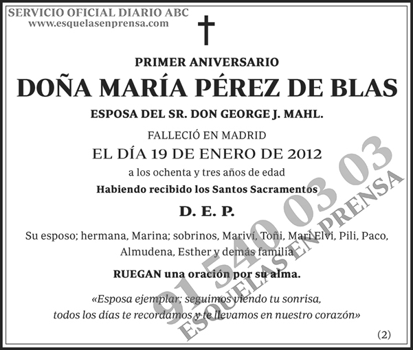 María Pérez de Blas